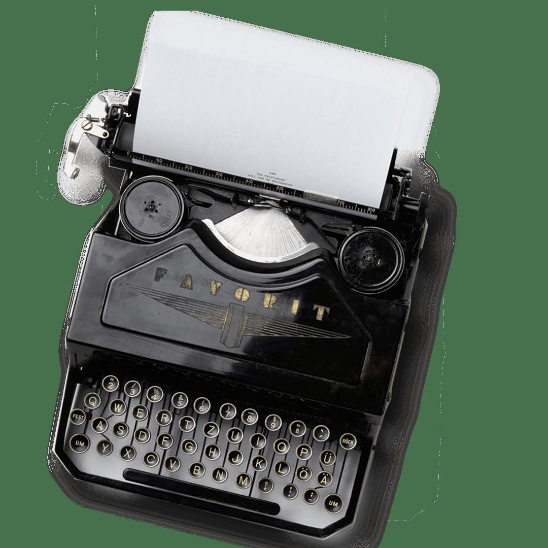Schreibmaschinefreisteller